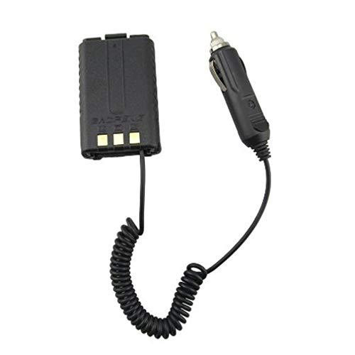Eliminador de batería de Coche para BAOFENG UV-5R Radio de Doble Banda Walkie TalkieNegro