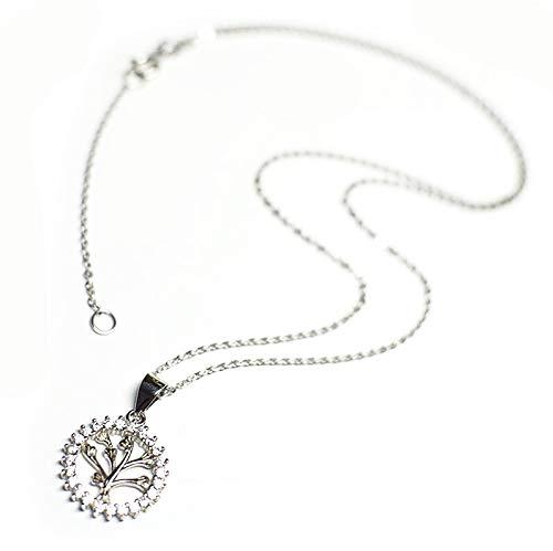 Collar De Árbol De Deseo Y De Suerte,Colgante De S925 Plata Esterlina,Amuleto De Suerte,Regalo De…