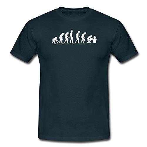 Evolution Nerd Gamer Männer T-Shirt, 4XL, Navy