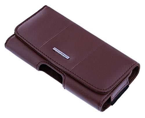 Nuoku Bruin Universeel PU Leder Riem Holster iPhone 8/7 / 6S / 6 Samsung Galaxy S6 edge