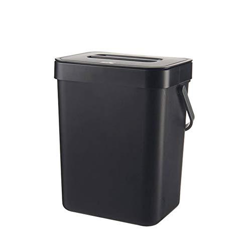 YOUNGE Cubo de basura rectangular con cubierta abierta para colgar en la cocina, para el hogar, sala de estar, dormitorio, para colgar en la pared, papelera