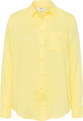 BRAX Damen Style Victoria Linen Bluse, Yellow, (Herstellergröße: 38)