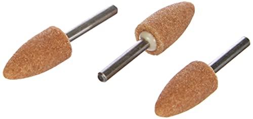 Dremel 26150952JA Punta de amolar de óxido de Aluminio 9,5 mm (952), 9.5mm, Set de 3 Piezas