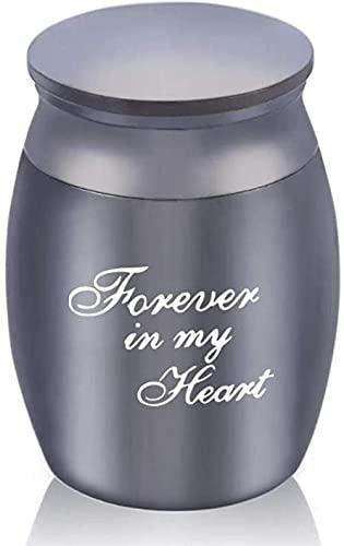 JJPRFO Urnas de cremación para Cenizas Forever in My Heart-Negro/Oro Rosa/Azul/Dorado/Plata Urnas de cremación para Mascotas Metal Aleación de Aluminio Cenizas Memoria Human Pet Urn-Black_30x40mm