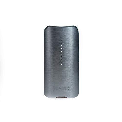 Davinci IQ2 Tragbarer Vaporizer aus Keramik und Glas, Für Trockenkräuter und Konzentrate, mit Einstellbarem Luftstrom und Präzisem Temperaturreglungssystem, Grau