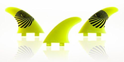 QUILLA Surf FCS Compatible Tri-Set A2 Composite 40% Fibra DE Vidrio. Sistema Fusion. Talla M