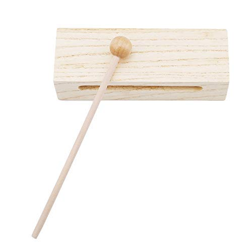 Dirgee Hölzerne Percussion Block Woodblock mit Holzhammer Exquisite Kind Kinder Musical Spielzeug Percussion Instrument gut (Farbe: 779116) (Color : 779116)