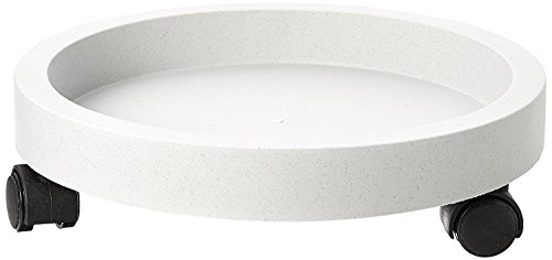 Rocky Mountain Goods Planter Caddy – Extra strength wheels for easy plant moving – Tip proof – Outdoor / Indoor – White color planter dolly doesn't overheat plants – Wall rim to secure planter (11″)