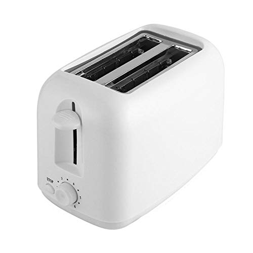 Fslt Tostadora de 2 rebanadas tostadora de Pan de Calentamiento rápido automática máquina de Desayuno en casa UE Enchufe Blanco