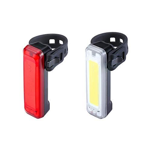 BBB Fahrradlicht, Mini-Signal, USB wiederaufladbar, Front- und Rücklicht, wasserdicht, MTB Urban Road 100 Lumen, BLS-138, Schwarz