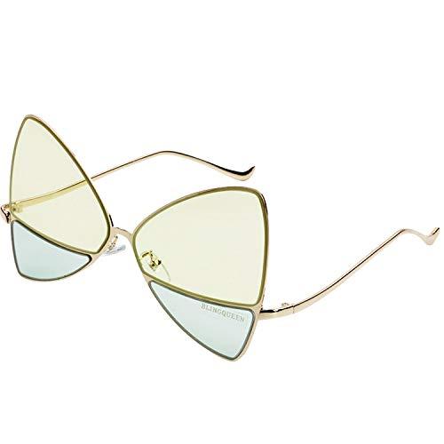 xingxing Gafas de sol redondas de metal negro para niños de 5 a 10 años (color del marco: como en la foto, color de las lentes: amarillo)