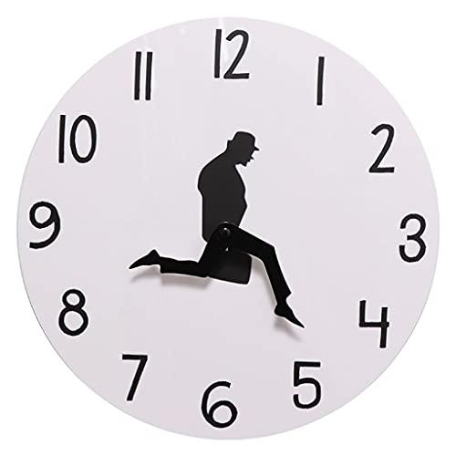 Fenteer Moderno Grande Redondo decoración Pegatinas de Pared Relojes Traje Hombres Estilo Adultos decoración de la habitación decoración del hogar Reloj con