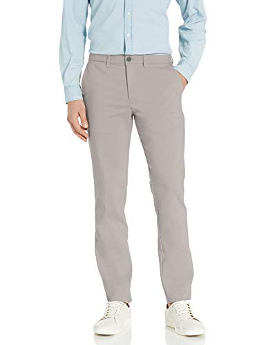 Calvin Klein Men's Move 365 Slim Fit Tech Modern Stretch Chino Wrinkle Resistant Pants, Alloy, 33x32
