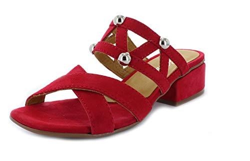 Alpe Shoes - Destalonada de Cuero Mujer, color Rojo, talla 37 EU