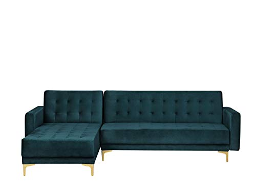 Canapé d'angle Velours Moderne Vert