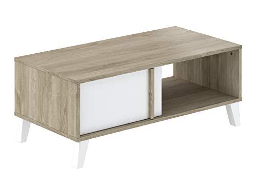 Mesa de centro, 100 x 50 x 40 cm, blanco
