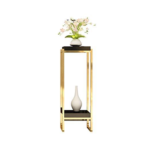 Moderne Indoor Plant Holder, Plant Pot niet inbegrepen, smeedijzer licht luxe bloempot Stand woonkamer slaapkamer decoratie Shelf 20/4/9 (Size : L)