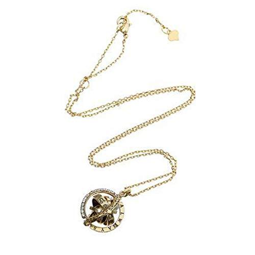 ASHOP Kette Damen, 100 Sprachen Ich Liebe Dich Astronomie Halskette Anhänger Damen Elegant Strass Halskette Pendant Halskette Kette (Gold, Diamant)