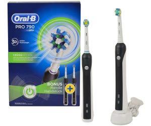Oral-B Pro 790 Elektrische Zahnbürste, für eine gründliche Reinigung, mit 2. Handstück, schwarz