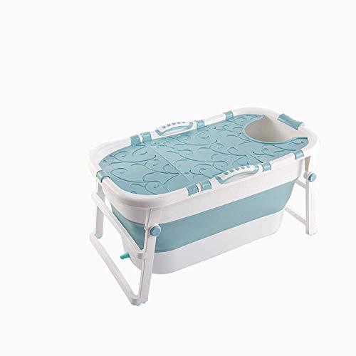 yunyu Bañera para Adultos Bañera Plegable portátil, Bandeja de Ducha Plegable para bañera Grande para el hogar, Cómoda bañera Plegable para Adultos, 2 Colores, Azul ✅