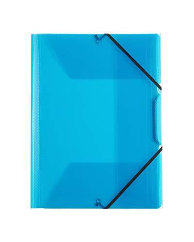 Favorit 400116644 Cartella 3 Lembi con Elastico Lumina, 22 x 30 cm, Dorso 0 - 3 cm, Blu