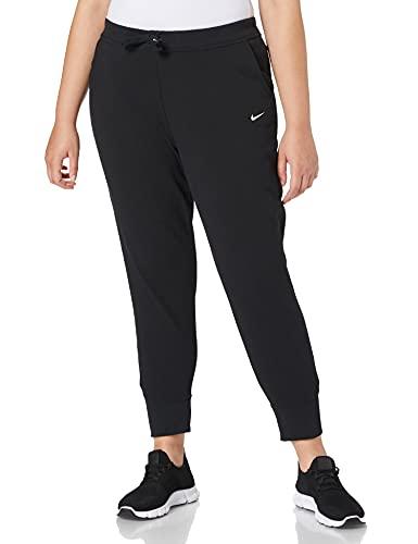 Nike W NK Dry Get FIT FLC TP Pant Pantalon de Sport Femme, Black/(White), FR (Taille Fabricant : XL)
