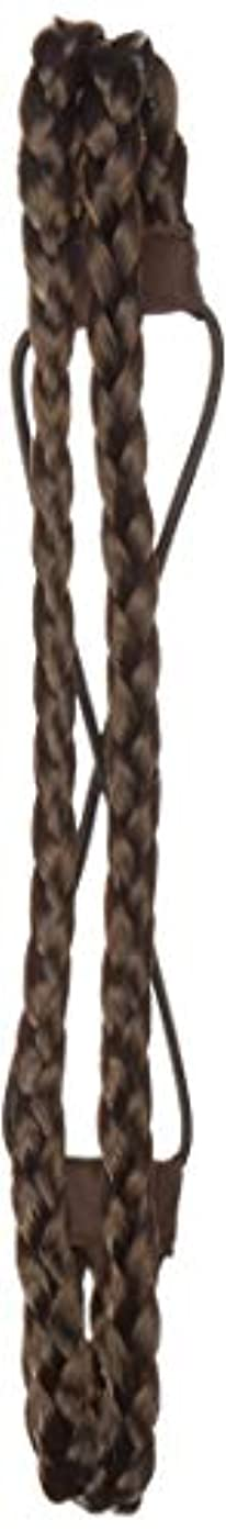 Hollywood Hair Braided Hair Headband with Two Braids | Natural looking hair bands | Blends in with your own hair (Dark Brown)