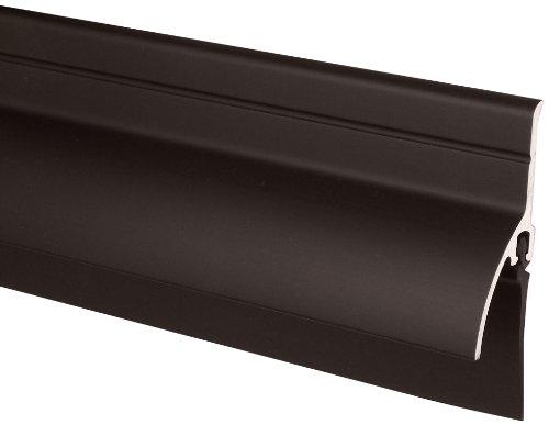 Pemko Door Bottom Sweep with Rain Drip, Dark Bronze Anodized Aluminum with Black Vinyl insert, 0.5625 W x 2 H x 36 L