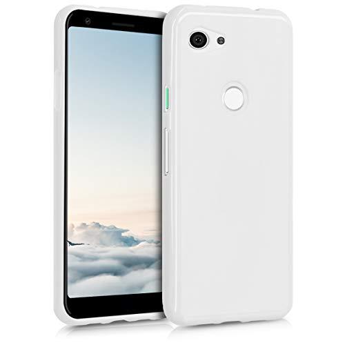 kwmobile Hülle kompatibel mit Google Pixel 3a - Hülle Handyhülle - Handy Hülle in Weiß