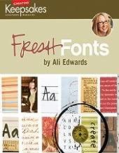 Creating Keepsakes Ali Edwards Fresh Fonts CD