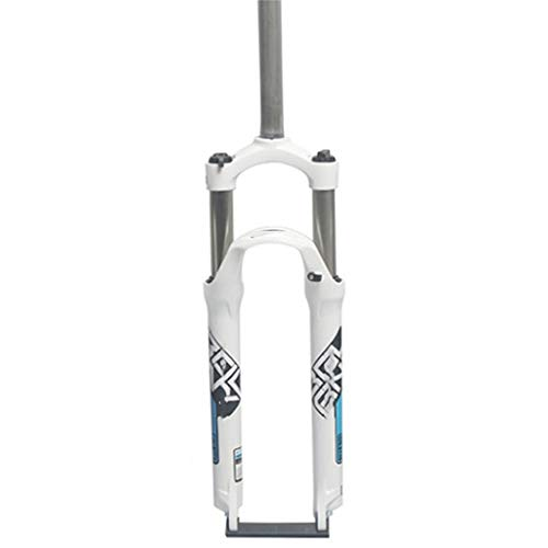 Sentarse ZZQ- Bicicleta Horquilla Delantera 26 Pulgadas MTB Horquilla De Suspensión Duraderas Estructura Fuerte Horquilla De Aire De Accesorios De Bicicleta