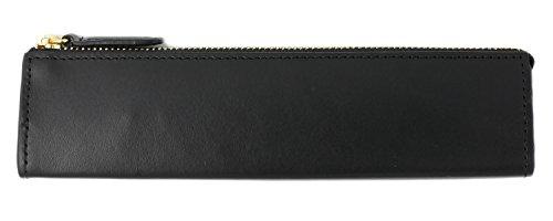 スリップオン ファスナーペンケース M Rio 革 ブラック IOL-3808