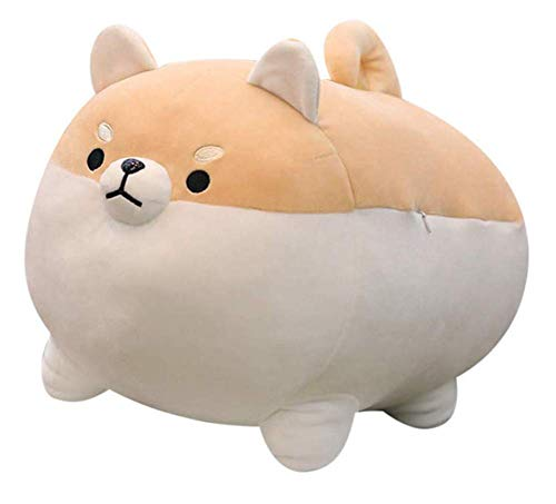 Shiba Inu - Almohada de peluche suave para niños, para dormir y cómodo, cojín mullido de peluche para perro, muñecas, animales realistas, regalo de Navidad de peluche de algodón de 19,6 pulgadas