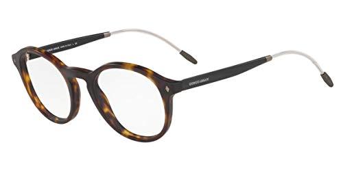 Giorgio Armani 0AR7168 Monturas de gafas, Matte Havana, 50 para Hombre