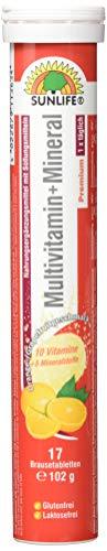 Sunlife Brausetabletten 17, Multivitamin, 12er Pack (12 x 102 g)