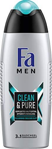 FA MEN 3in1 Duschgel Clean & Pure mit pulsierend-frischem Duft, 6er Pack (6 x 250 ml)
