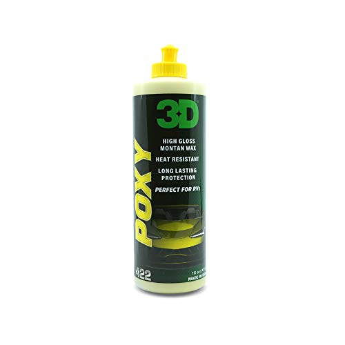 3D Poxy - High Gloss Montan Car Wax & Paint Restoration Sealant for Longer Lasting Shine & Protection 16oz.