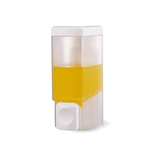 Dongxiao Bomba de Jabón Transparente Scrub Prensa dispensador de líquido de los organismos unicelulares Aseo Loción Botella dispensadora de Ducha 400ML Botella Gel (Color : White)