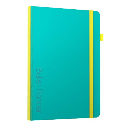 Bullet Planner by Scribbles That Matter - Undated (Version 2019) - Pre-Printed Weekly, Monthly, Yearly Spreads - Habit Tracker - Get Your Life Organized and Productive Hassle-Free - B5 (Teal)