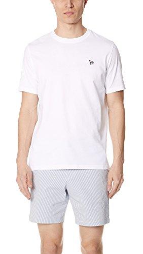 Paul Smith Zebra Badge t-shirt in bianco bianco XXL