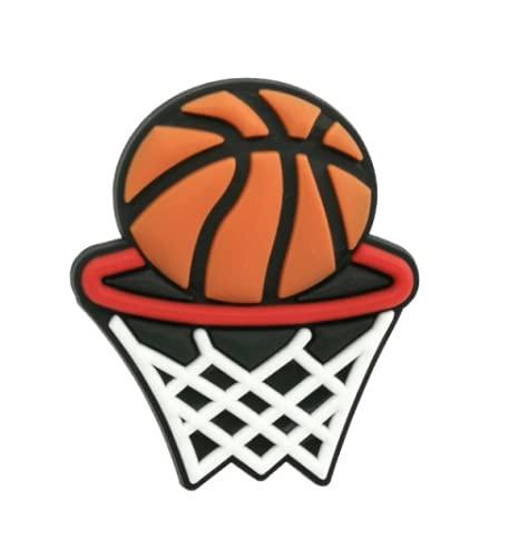Pin Zuecos Chanclas Charm | Diseño Unisex Baloncesto Balón Basket Deportivo