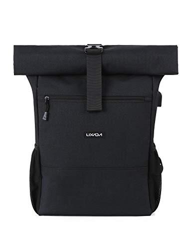 Lixada Roll Top Rucksack Herren Damen aus Canvas Wasserdicht Laptop Tagesrucksack 18L-26L Max. Für 17 Zoll …