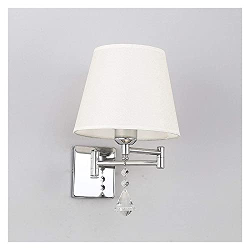 Ckssyao lámpara de Pared Lámpara de Pared de Cristal Decorativa/Nuevo Dise?o Simple/Lámpara Mecedora Moderna Sala de Estar/Lámpara de Metal para Dormitorio