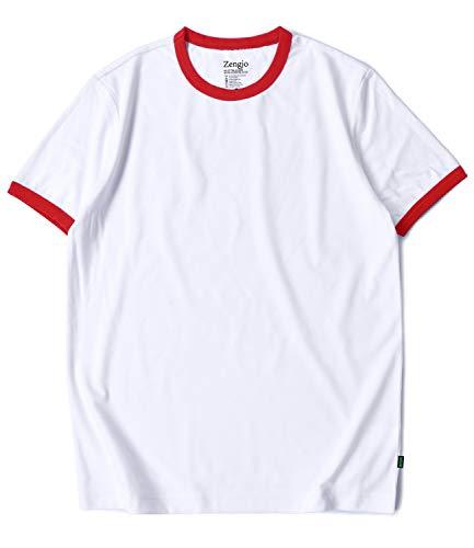 White Ringer Tee (L, White/Red)