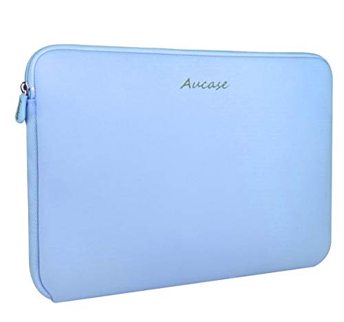 Aucase Laptop Sleeve 13-14 Inch, Thickest Lightest Water Resistant Neoprene Protective Laptop Case Bag for Men and Women