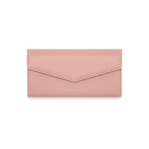 Katie Loxton Esme Womens Vegan Leather Envelope Clutch Purse Pink