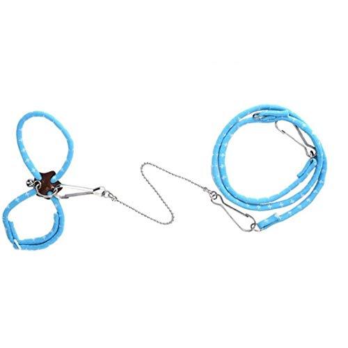 Odoukey Mascota hámster Cuerda del arnés Ajustable buscador Preciosa Entrenamiento al Aire Libre para Caminar tracción, para el Estilo de ratón pequeño Animal 1