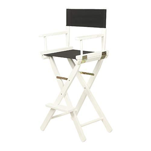 Klappstuhl Tragbarer Holz-Canvas-Stuhl, 30-Zoll-einfacher Bar Hochstuhl Klappstuhl Esszimmerstuhl Sessel für 220 Ibs Kapazität - 15 Farben erhältlich