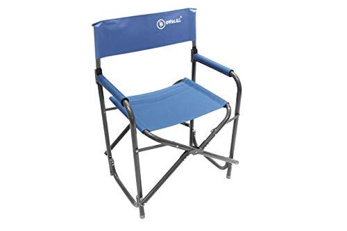 Homecall - Aluminium opvouwbare campingstoel met rugleuning - (blauw)