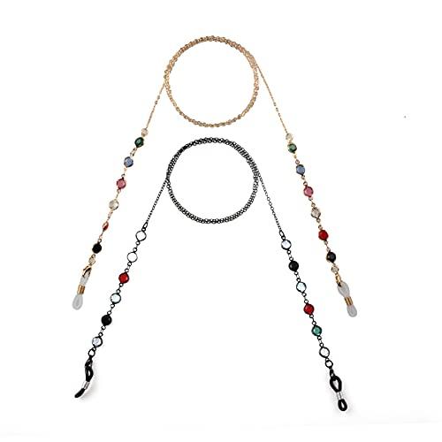 Zeayebsr Cordones para Gafas 2 Pcs, Cordones para gafas de perlas de...